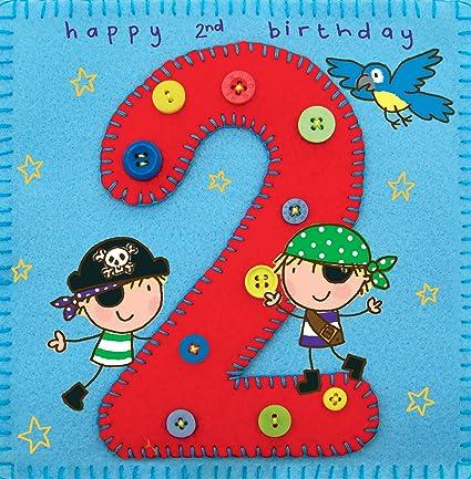 carte anniversaire 2 ans garçon Twizler Carte d'anniversaire de 2 ans pour un petit garçon, avec
