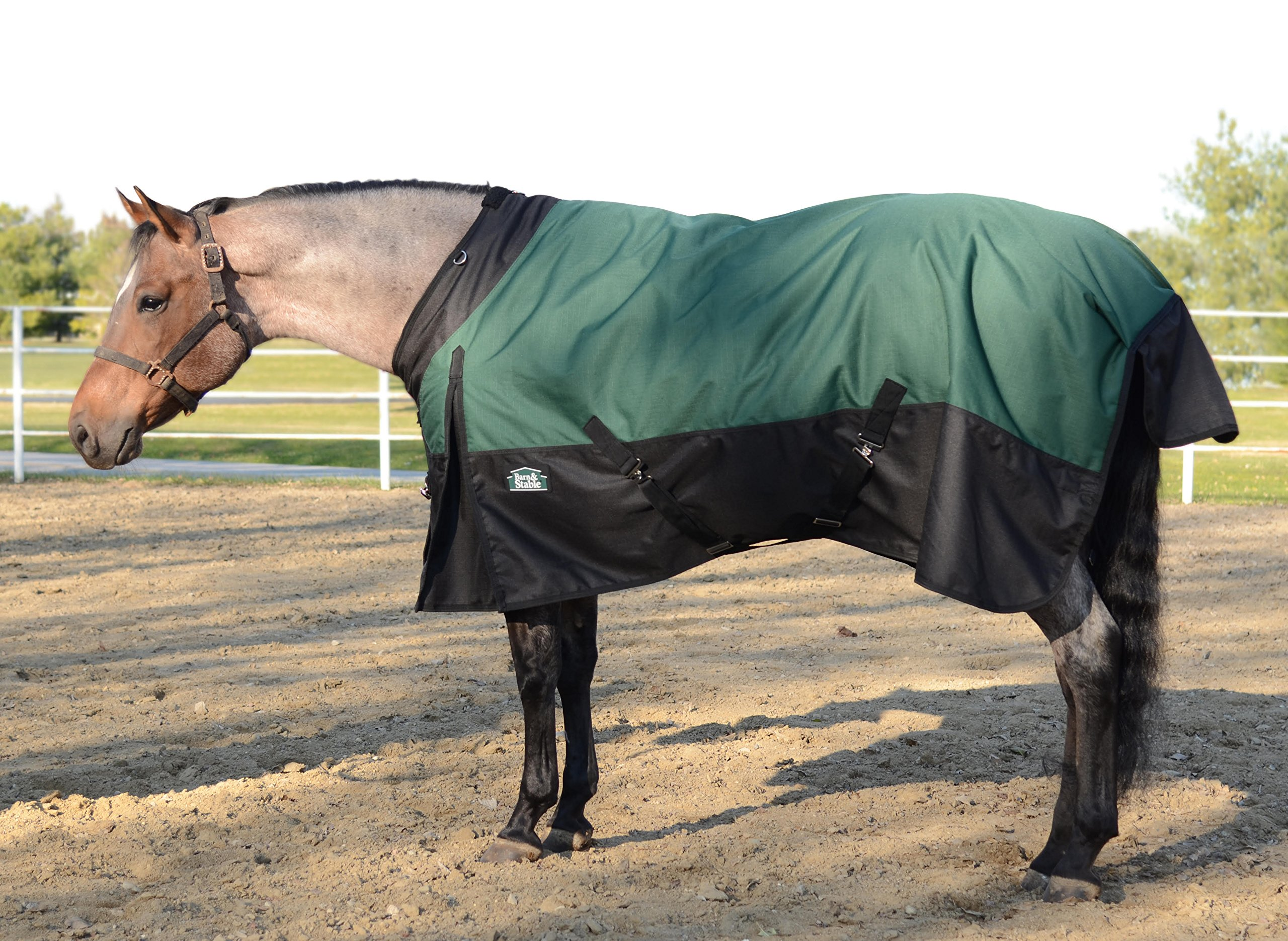 Horse Blanket Turnout Blanket 1200D Ripstop, 210D Lining and 200grm Fill-Hurry! Buy 1 Get 1 Free Tote!