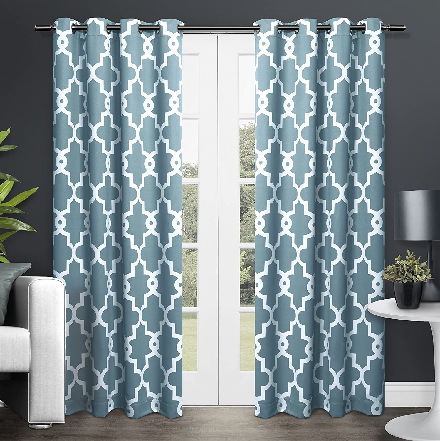 at kitchen curtains moda plus patience stuff home polyester green teal curtain shower