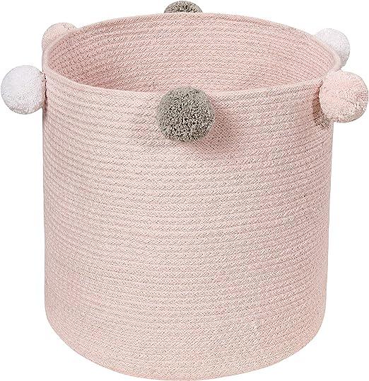 Lorena Canals bebé Efervescente Cesta, algodón, Rosa Pastel, 30 x ...
