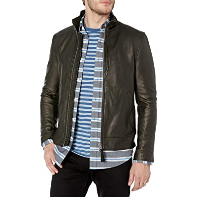 Mackage Men's Tyrell Distressed Leather Jacket at Men's Clothing store