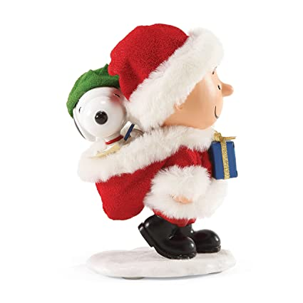department 56 peanuts warm christmas puppy figurine - Department 56 Peanuts Christmas