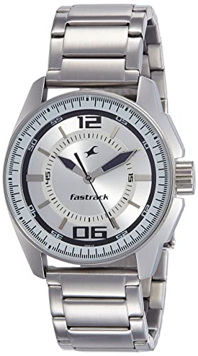 7. Fastrack Black Magic Analog White Dial Men's Watch -NK3089SM01