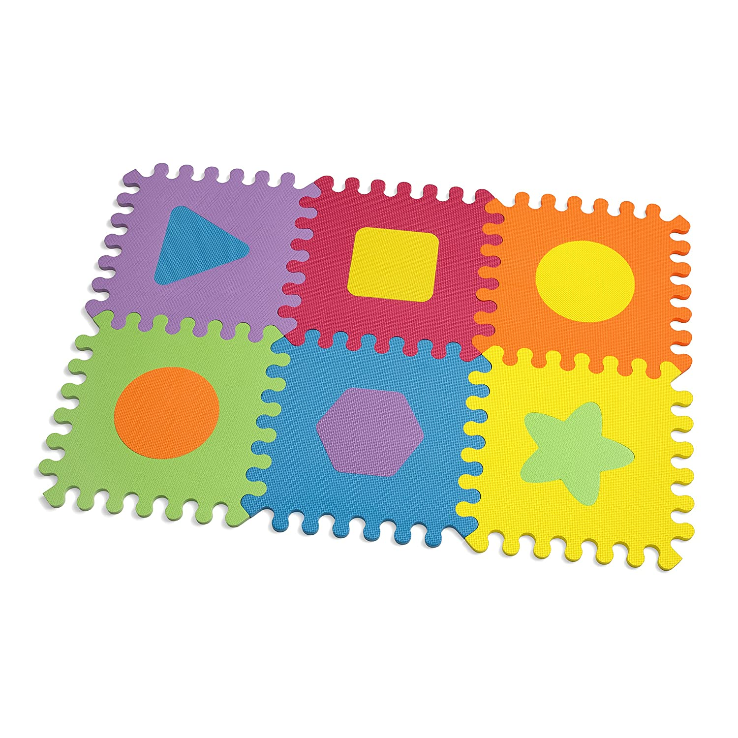 exercise prosource mats mat puzzle blue inch products