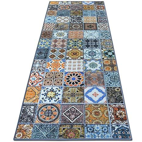 Superior Teppichläufer Bonita | Patchwork Muster Im Vintage Look | Viele Größen |  Moderner Teppich Läufer Für