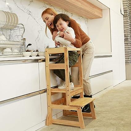 Enjoyable Sdadi Adjustable Height Kitchen Step Stool Kids Learning Stool Mothers Helper Lt05N Creativecarmelina Interior Chair Design Creativecarmelinacom