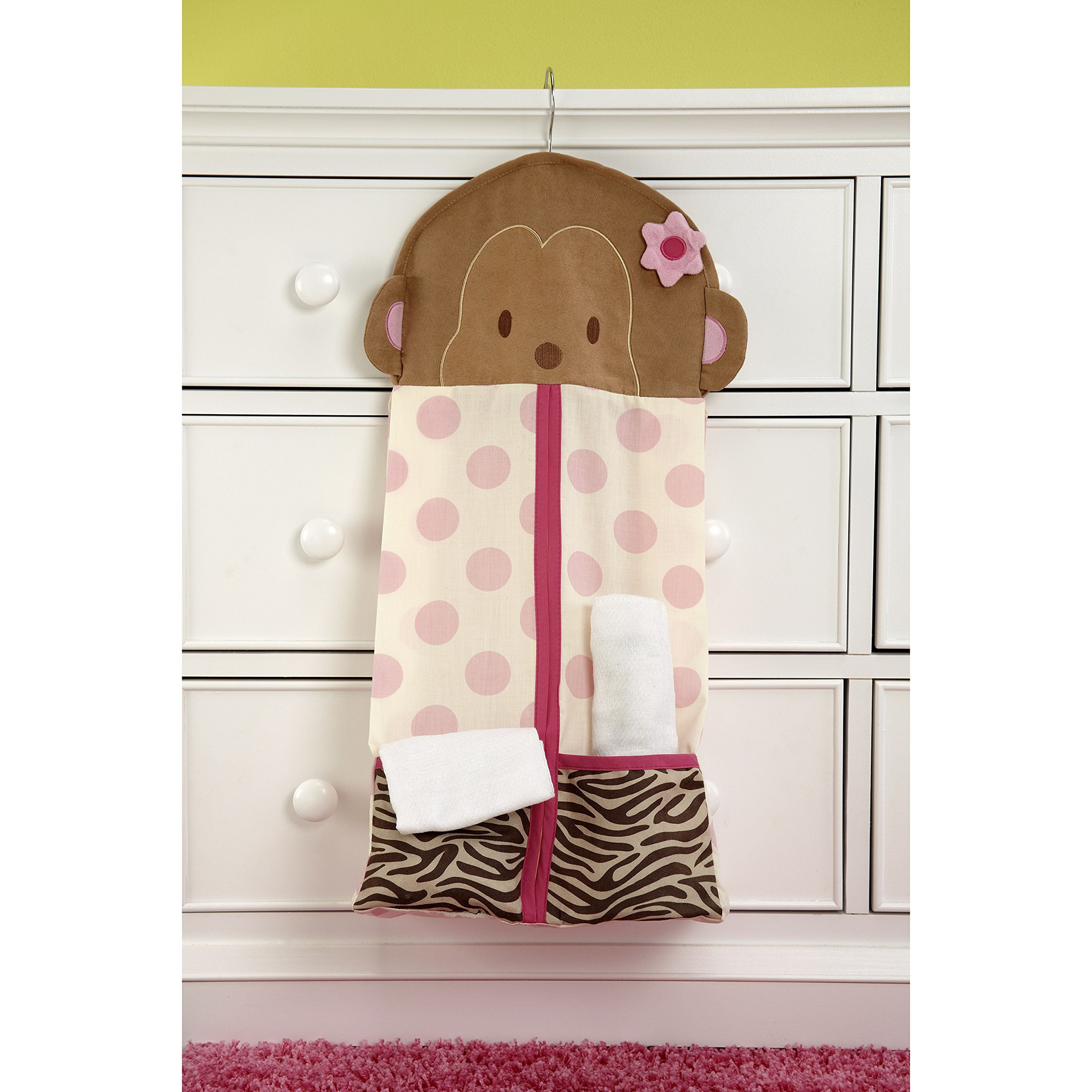 Carter's Jungle Collection Nursery Diaper Stacker, Pink/Lime/Brown/Tan by Carter's (Image #3)