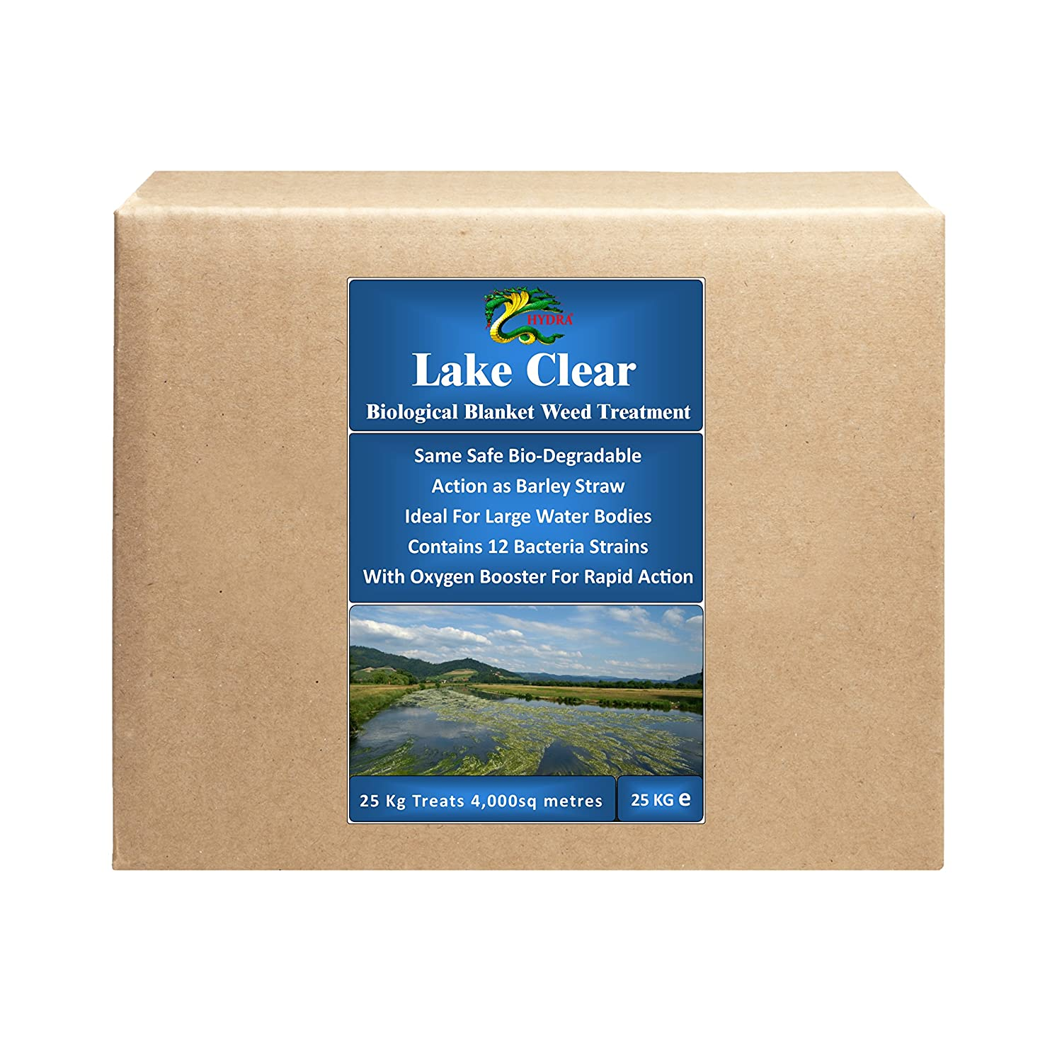 HYDRA Blanket Weed & String Algae Treatment for Lake and Larger Pond Water LAKE CLEAR 25KG