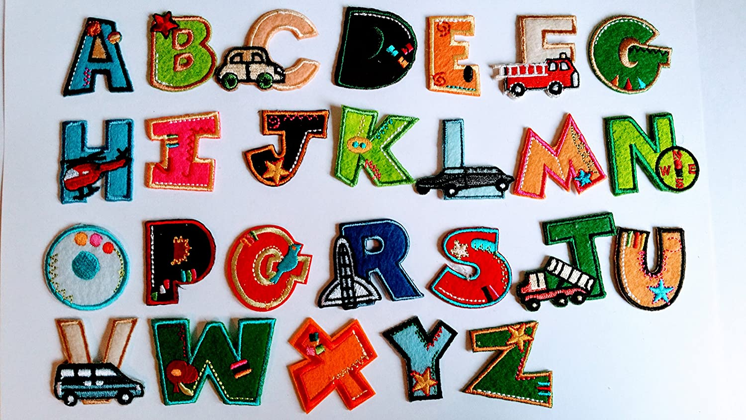 embroidery fabric letters iron on 5 letter name