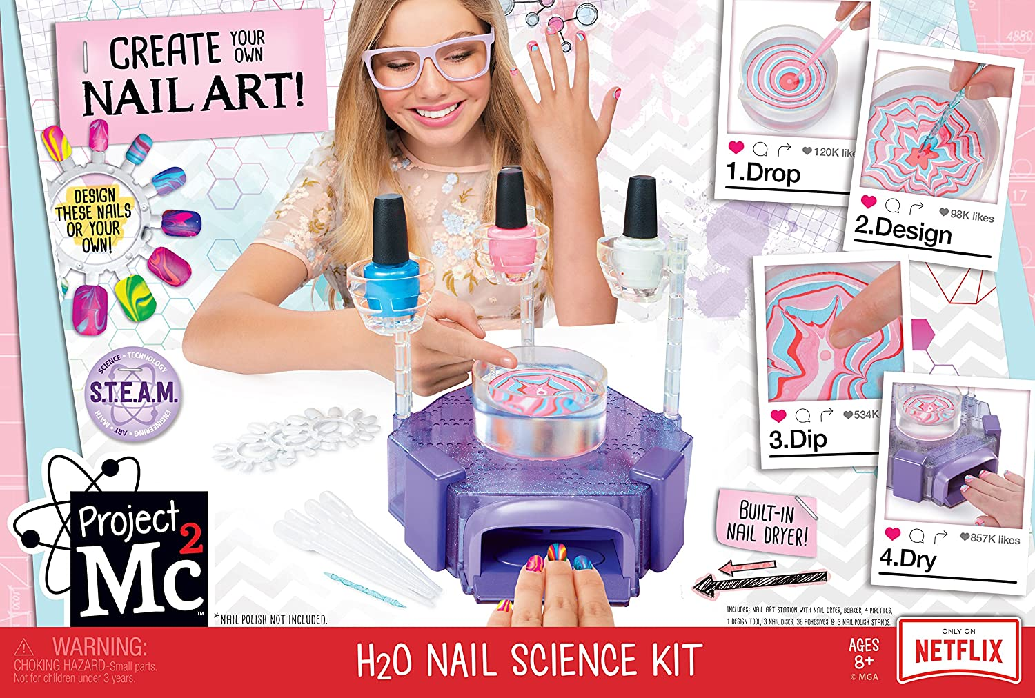 Amazon.com: Project Mc2 H2O Nail Science Kit: Toys & Games
