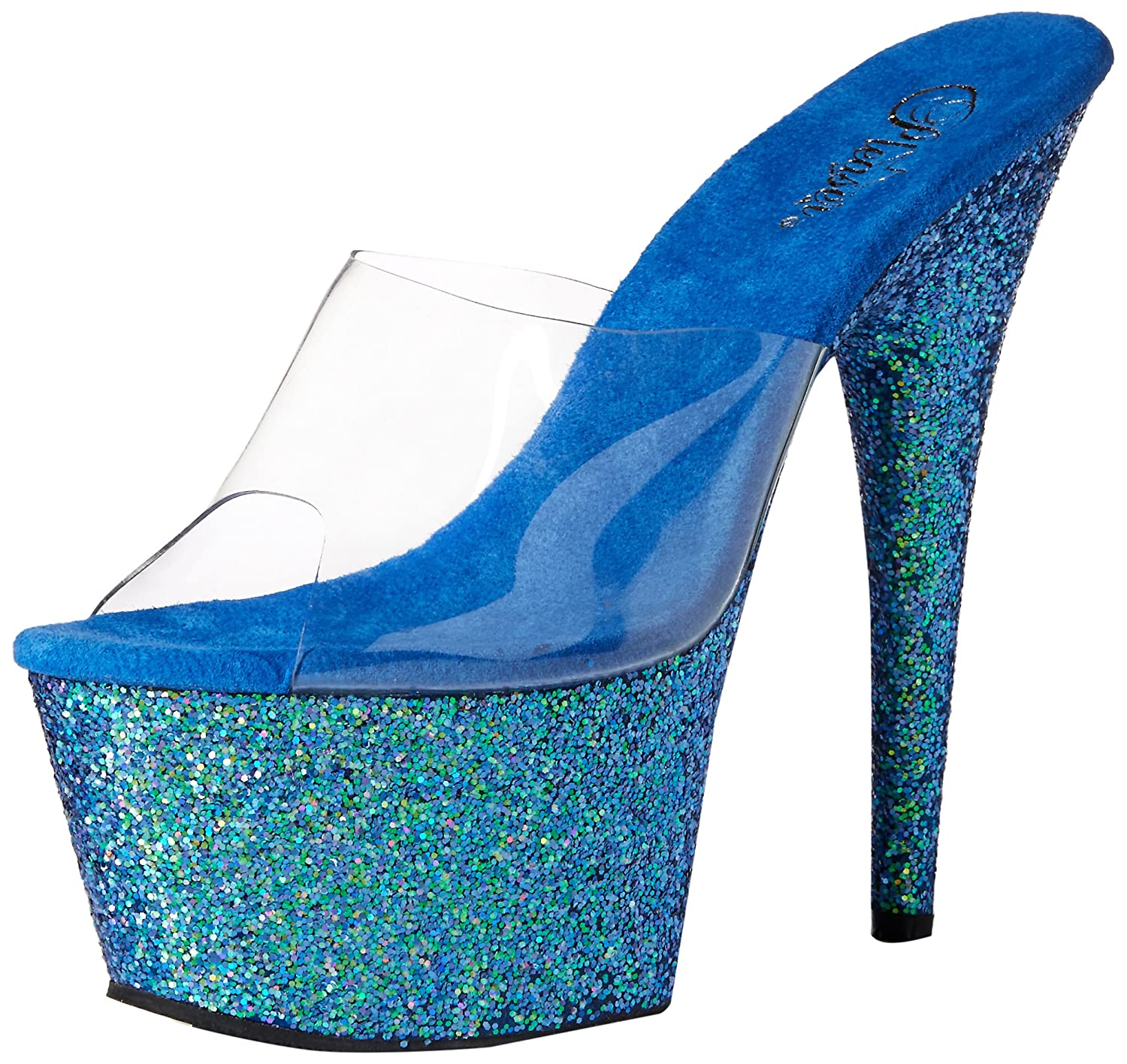 Pleaser Adore 701Lg, 701Lg, B07DKSL47H Sandales Femme Clr 3867/Blue Holo Glitter b96173e - therethere.space