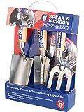 Neill Tools T/A Spear Jackson Spear & Jackson Neverbend Lots de 3 outils à main de jardinage en acier inoxydable