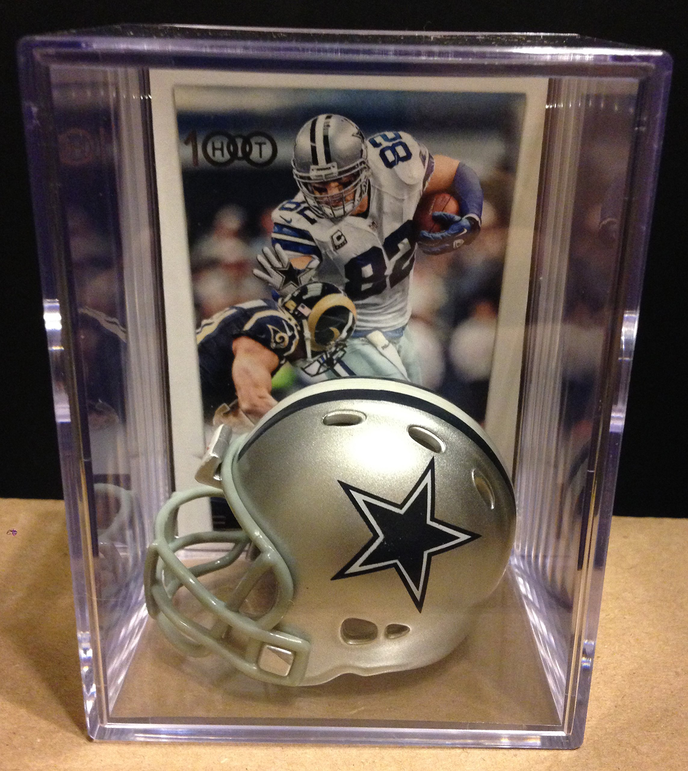 Dallas Cowboys NFL Helmet Shadowbox w/ Jason Witten card