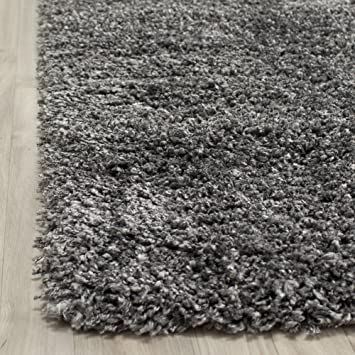 Safavieh Cozy Dark Grey Shag Rug. This Grey Area Rug Brings Style And  Comfort To