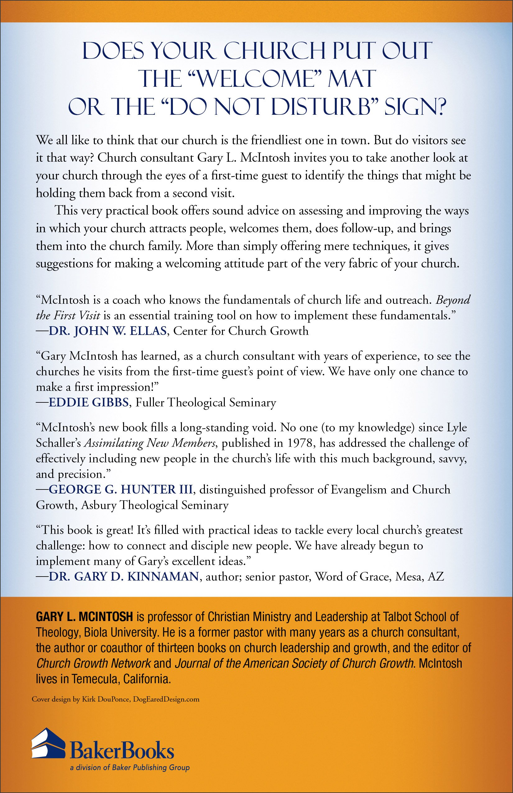 Beyond the first visit the complete guide to connecting guests to beyond the first visit the complete guide to connecting guests to your church gary l mcintosh 9780801091841 amazon books kristyandbryce Images