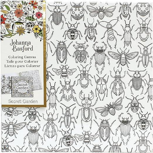 - Amazon.com: Art Alternatives Bugs Johanna Basford Secret Garden Coloring  Canvas: Arts, Crafts & Sewing