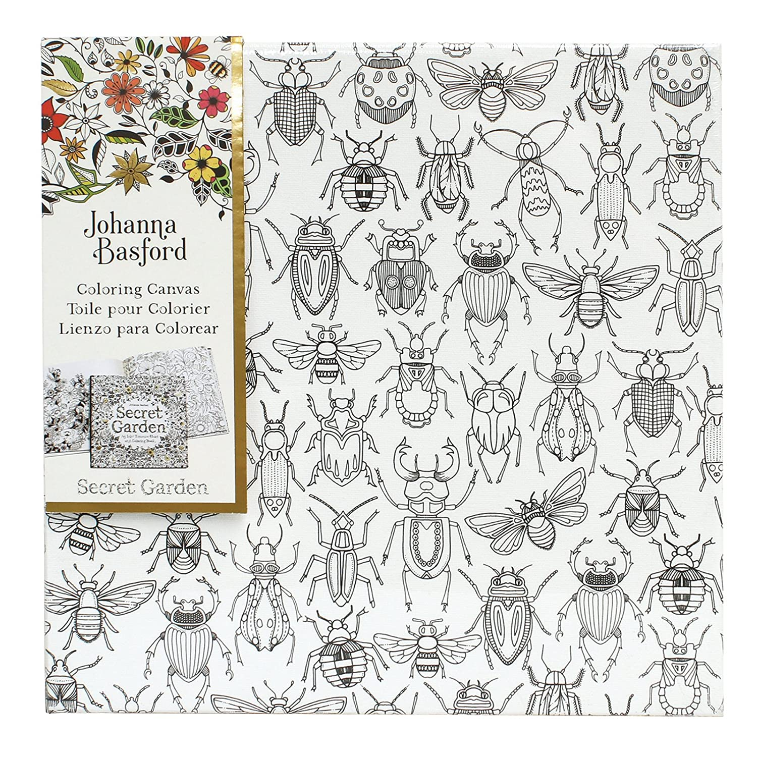 amazoncom johanna basford enchanted forest coloring canvas compass arts crafts sewing