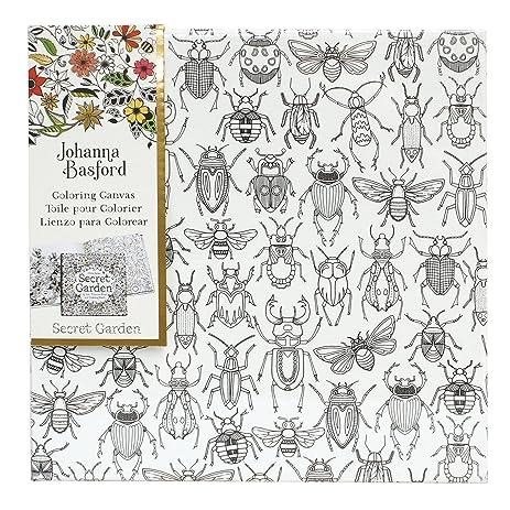 Amazon.com: Johanna Basford Secret Garden Coloring Canvas - Bugs ...