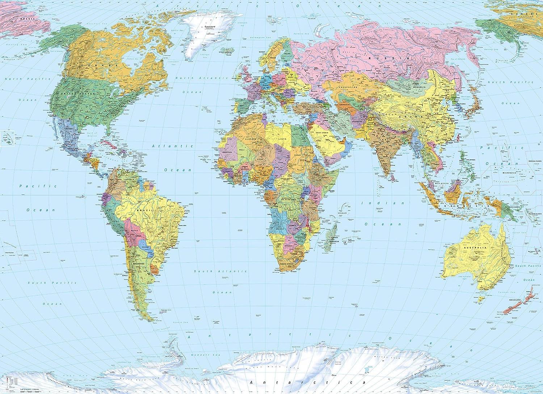 World Map Wallpaper Mural Amazon Co Uk Diy Tools