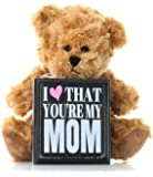 Mom Gifts From Daughter Son or Kids for Mothers Day Birthday Christmas Thank You Gift - Teddy Bear and Mom Plaque Best Present for Mother in Law