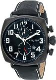 Akribos XXIV Men's Analogue Display Quartz Watch with Contrast Stitching Leather Strap