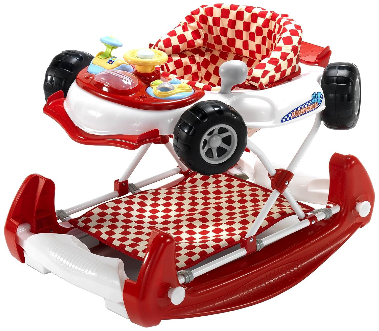 Blue Racing Car Baby Walker