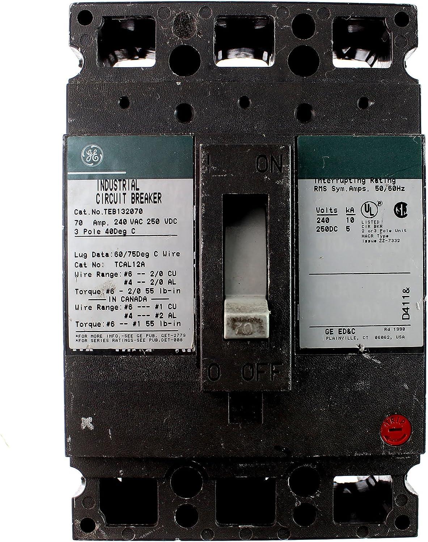 * TRUMBULL GE 70 AMP 3 POLE BREAKER ATB32070       B-49