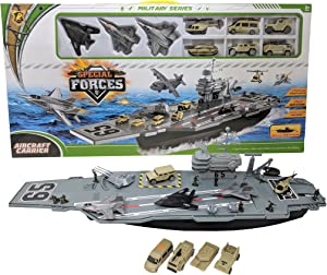 Peng Rong 33 Inch long Aircraft Carrier with Jets and Military Vehicles