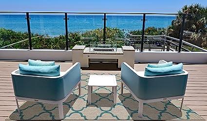 Brown Jordan Prime Label Outdoor Furniture Rug 8x10 Seneca Collection Sisal  Woven Modern Patio Rugs,
