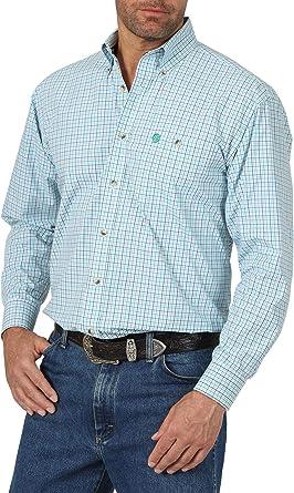 Wrangler Camisa con Cuello Abotonado para Hombre: Amazon.es: Ropa y accesorios