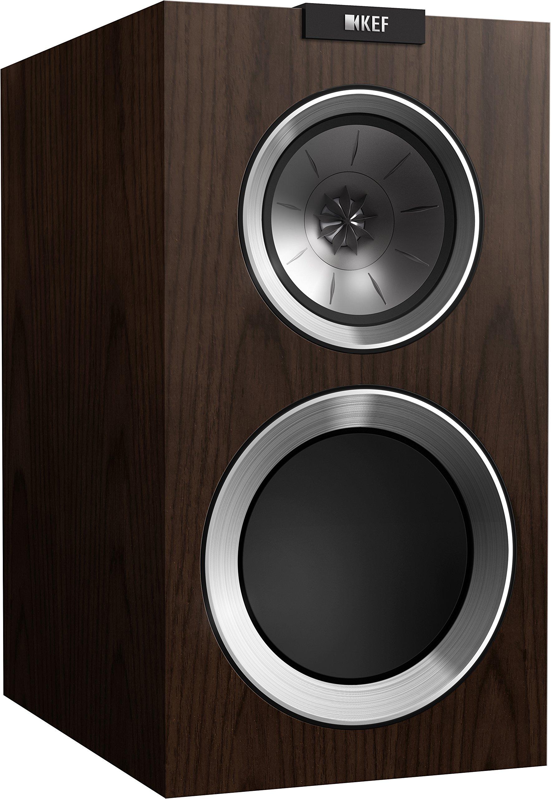 KEF R300 Bookshelf Loudspeaker - Walnut (Pair)