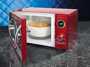 Salco SNM400 25L 800W Rojo - Microondas (25 L, 800 W, Botones ...