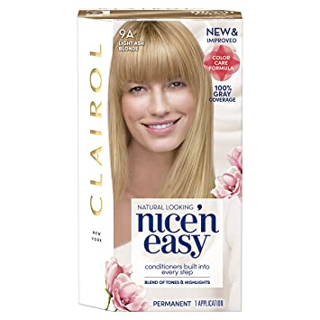 Clairol Nice U0027n Easy, 9A/102 Light Ash Blonde, Permanent Hair Color Photo Gallery