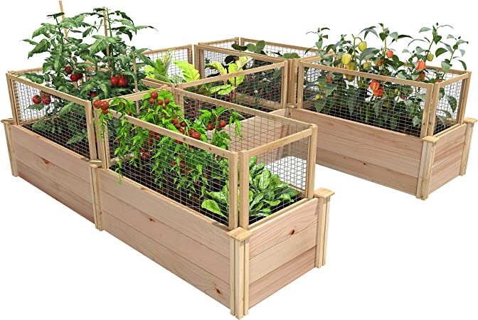 Amazon Com Greenes Fence Premium Cedar Raised Garden Bed U Shaped