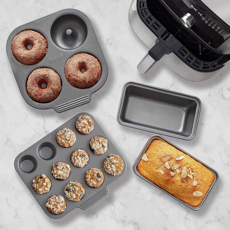 Instant Pot Official Baking Set, Fits 6qt/10qt Vortex Air Fryer, 4-Piece, Multicolored
