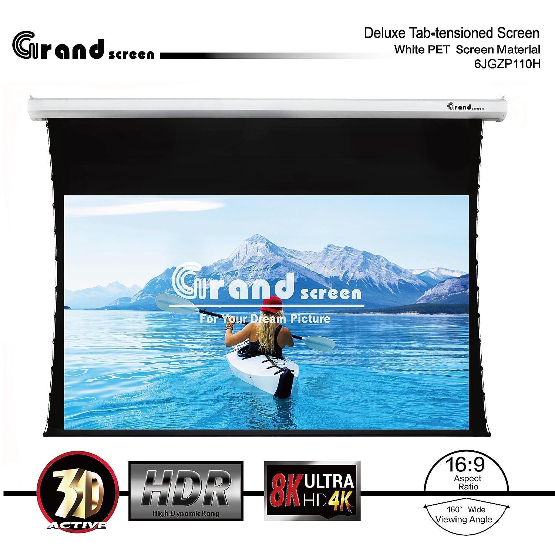 Amazon.com: Grand Screen 4K/3D/UHD Deluxe Tab-tensioned Projector ...