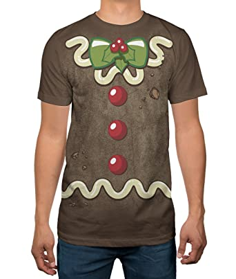 Hybrid Apparel Gingerbread Cookie Christmas Costume Adult Sublimated T-shirt XL  sc 1 st  Amazon.com : gingerbread costume for adults  - Germanpascual.Com