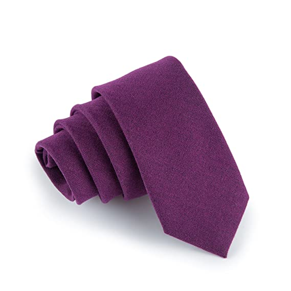 Elviros corbata estrecha tejida de lana de cachemira para hombres ...