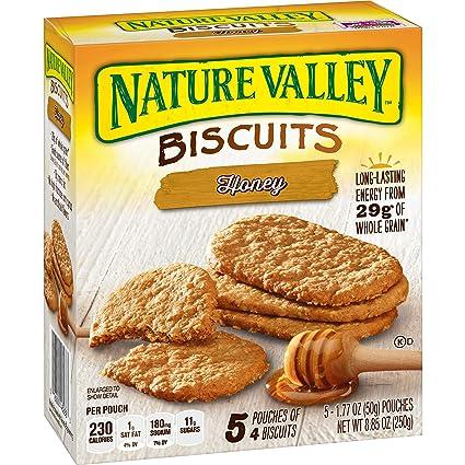 Nature Valley - Galletas de desayuno, miel, 5 bolsas, 4 ...