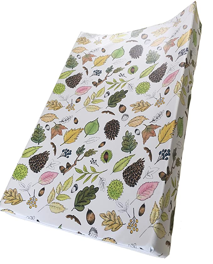 Wedge Baby Changing Mat The Gilded Bird Anti-roll Nature Walk - White