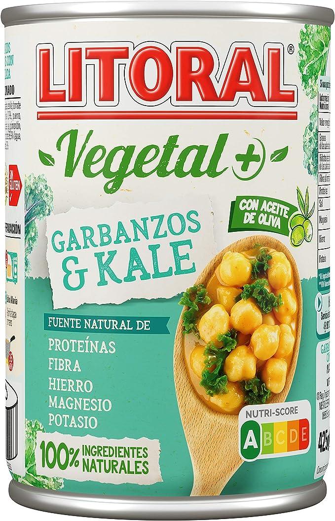 Litoral Vegetal Garbanzos con Kale, 425g