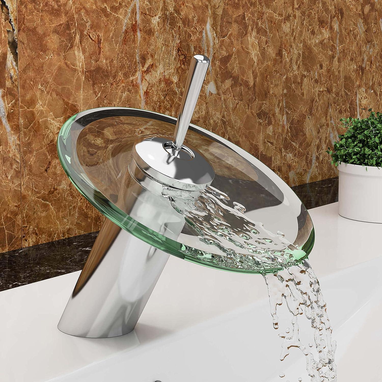 VILSTEIN© Waschtisch-Armatur Einhebelmischer Einhand Wasserhahn mit ...