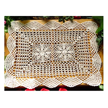 Amazoncom Laivigo New Handmade Crochet Cotton Lace Rectangular