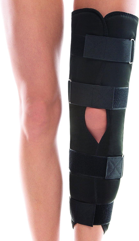 Ortopédico Bisagra Larga Estabilizador Rótula Refuerzo De Apoyo De La Rodilla Ajustable 50 cm Negro