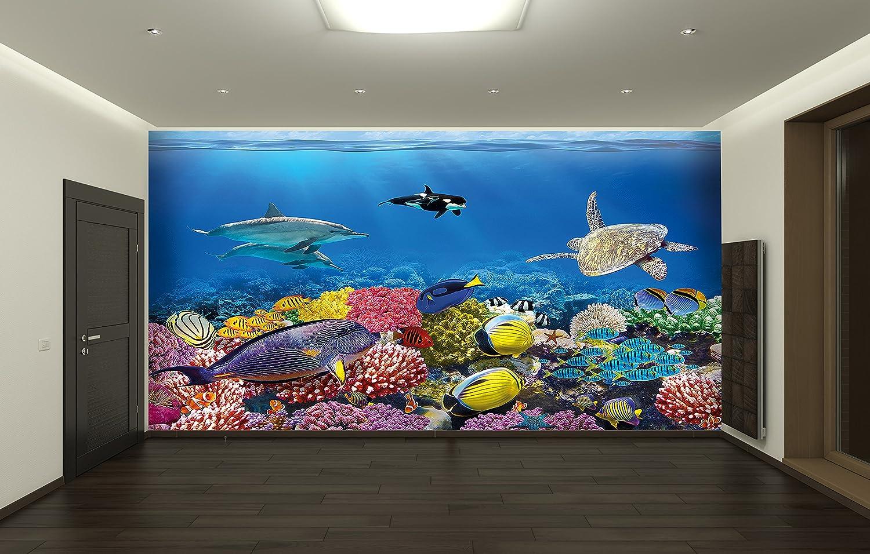 Unterwasser Korallenriff Fototapete Aquarium Fische Meer XXL ...