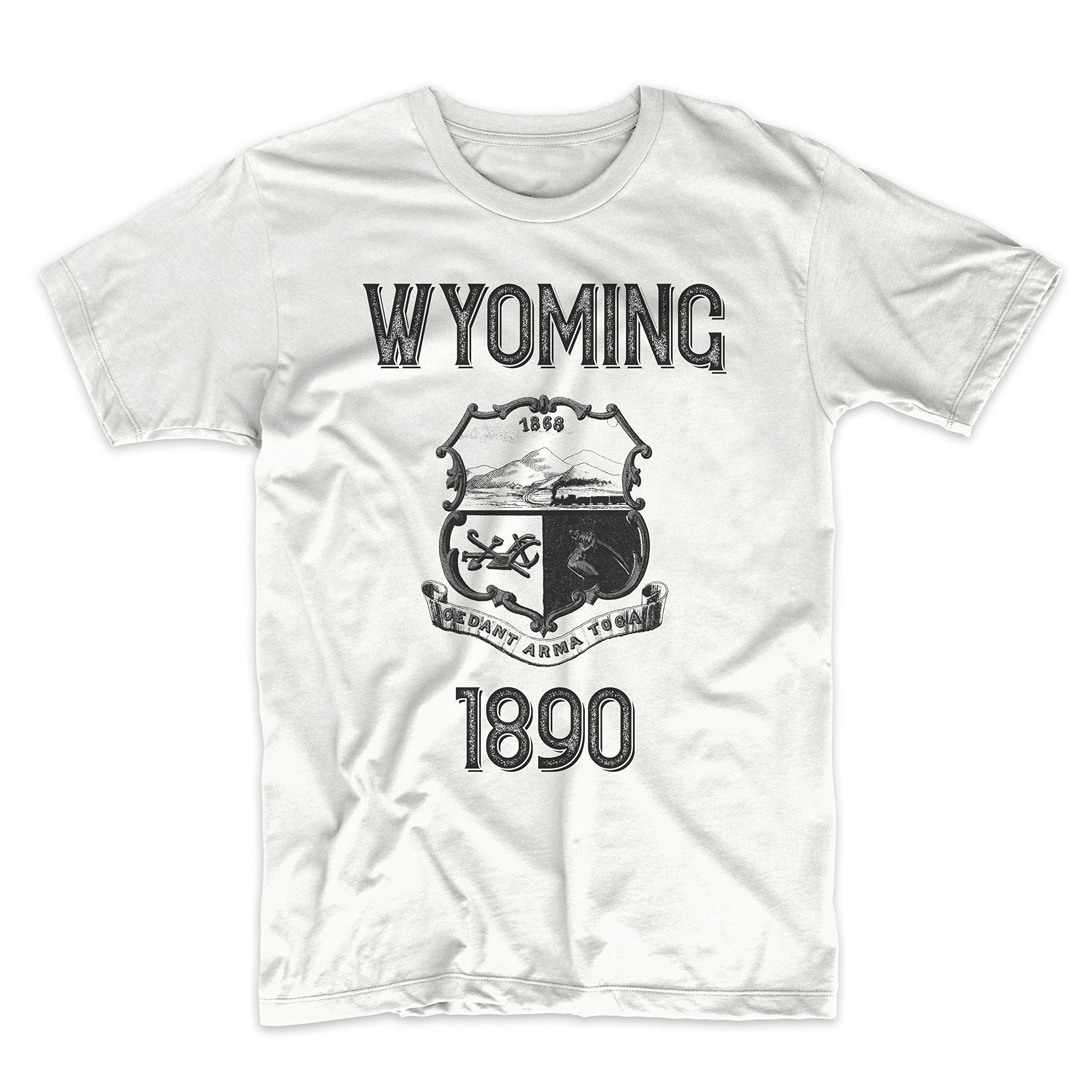 PatentPrints Wyoming Coat of Arms T Shirt
