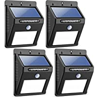 4-Pack Urpower Solar Lights Wireless Waterproof Motion Sensor Outdoor Light