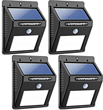 4-Pack Urpower Solar 8 LED Wireless Waterproof Outdoor Light