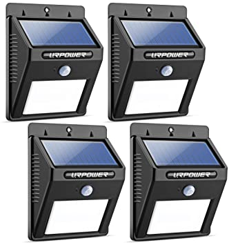 URPOWER Solar Lights 8 LED Wireless Waterproof Motion Sensor Outdoor Light  For For Patio, Deck Part 50