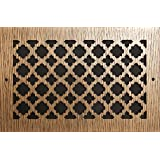 "LASER CUT CHERRY VENEER 1/4"" THICK VENT COVER PATTERN X 4 X 10 (5-3/4"" x 11-3/4"" Overall)"